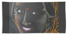 Kumkuma -- Close-up Portrait Of Indian Woman Bath Towel