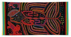 Kuna Indian Flying Fish  Bath Towel