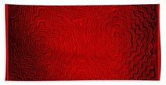 Hand Towel featuring the digital art Kuna Indian Sun Heat Rays by Vagabond Folk Art - Virginia Vivier