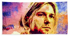Kurt Cobain Bath Towel by Svelby Art
