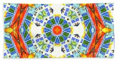 Bath Towel featuring the mixed media KV3 by Writermore Arts
