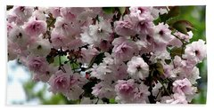 Japanese Cherry Tree Blossoms Highland Park Rochester Ny Watercolor Effect Bath Towel