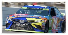 Kyle Busch Coming Out Of Turn 1 Hand Towel