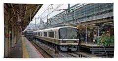 Kyoto To Osaka Train Station, Japan Hand Towel