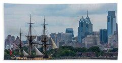 L Hermione Philadelphia Skyline Hand Towel