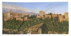 La Alhambra Granada Spain Bath Towel