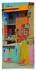 La Boca - Buenos Aires Hand Towel by Juergen Weiss