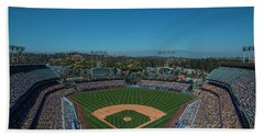 La Dodgers Stadium Baseball 2087 Hand Towel