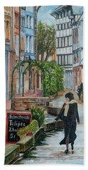 La Femme Aux Tulipes Hand Towel