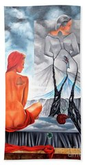 La Marcha Mas Larga Bath Towel by Jorge L Martinez Camilleri