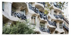 La Pedrera Casa Mila Gaudi  Bath Towel