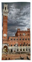 Hand Towel featuring the photograph La Piazza by Hanny Heim