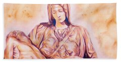 La Pieta By Michelangelo Bath Towel
