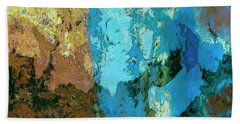 Hand Towel featuring the painting La Playa by Dominic Piperata