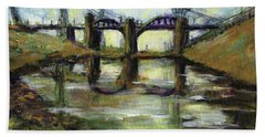 La River 6th Street Bidge Bath Towel