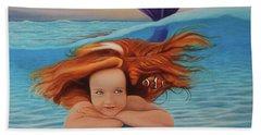 La Sirenita Bath Towel by Angel Ortiz