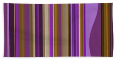 Large Purple Abstract - Two Hand Towel by Val Arie