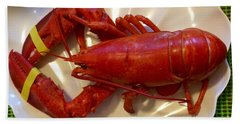 Labor Day Lobster Hand Towel