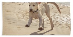 Labrador Jumping Bath Towel