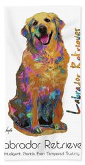 Labrador Retriever Pop Art Bath Towel