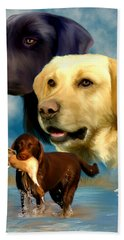 Labrador Retrievers Hand Towel