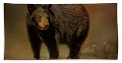 Black Bear In The Fall Bath Towel