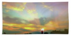Hand Towel featuring the photograph Lackawanna Transit Sunset by Diana Angstadt