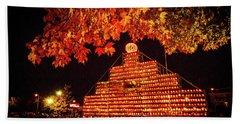 Laconia Pumpkin Festival Graphic Design 4 Hand Towel