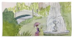 Ladies By Fountain Hand Towel