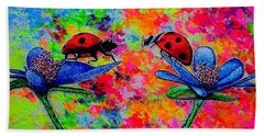 Lady Bugs Bath Towel by Viktor Lazarev