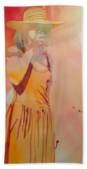 Lady In Yellow Hand Towel