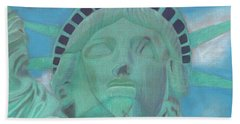 Lady Liberty Hand Towel by Arlene Crafton