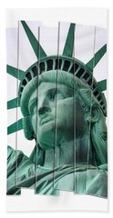 Lady Liberty In Nyc Hand Towel