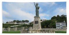 Lady Liberty On Mackinac Island Bath Towel