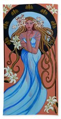 Lady Of The Lilly's  Bath Towel by Susan Duda