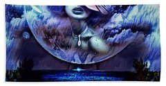 Lady Moon Light  Bath Towel