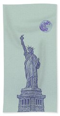 Lady Of Libery And Freedom By Adam Asar 1m Hand Towel