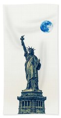 Lady Of Libery And Freedom By Adam Asar 2 Hand Towel