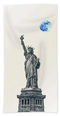 Lady Of Libery And Freedom By Adam Asar 4 Hand Towel