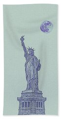 Lady Of Libery And Freedom By Adam Asar Hand Towel