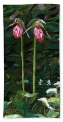 Lady Slipper Bath Towel