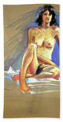 Lady With Blue Hand Towel
