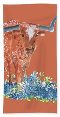 Ladybug In The Bluebonnets Lh002 By Kmcelwaine Hand Towel