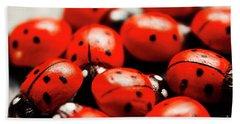 Ladybug Luck Bath Towel