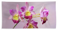 Laeliocatonia Hybrid Orchids V2 Hand Towel