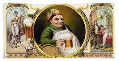 Lager Beer Stock Advertising Poster 1879 Hand Towel