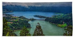 Lagoa Verde E Lagoa Azul Hand Towel