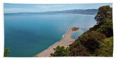 Lagoon Of Tindari On The Isle Of Sicily  Hand Towel