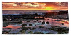 Laguna Beach Tidepools At Sunset Bath Towel by Eddie Yerkish