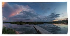 Bath Towel featuring the photograph Lake Alvin Supercell by Aaron J Groen